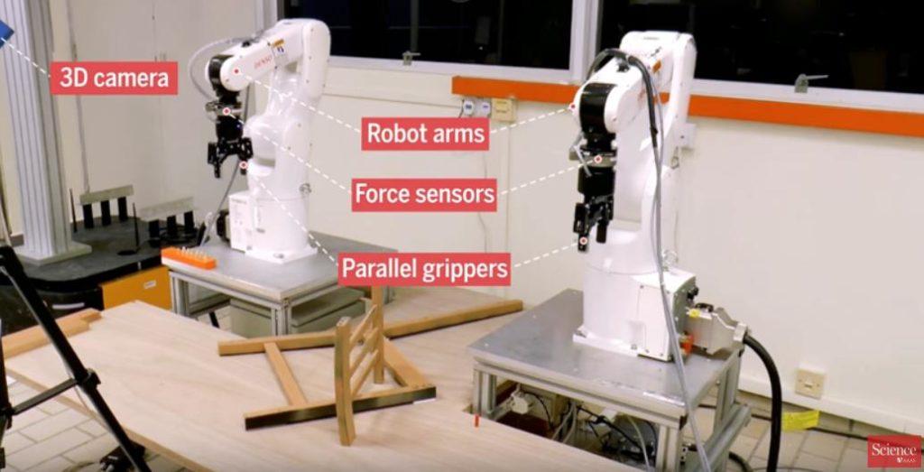 Ученые проверили, может ли робот собрать стул из IKEA быстрее человека