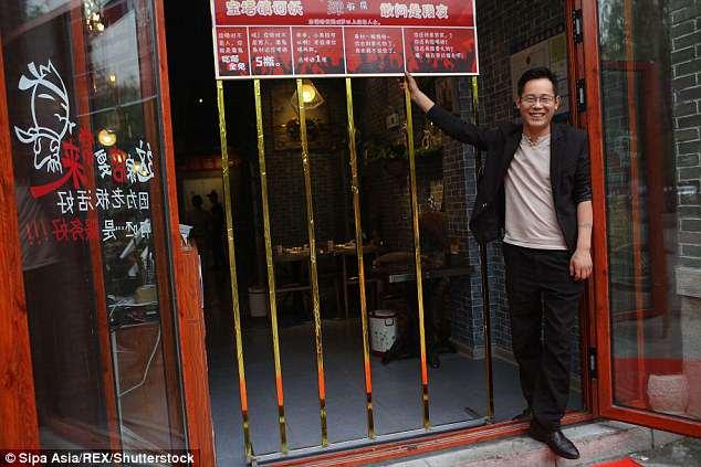 В одном из ресторанов китайского города Цзинань худых клиентов кормят бесплатно