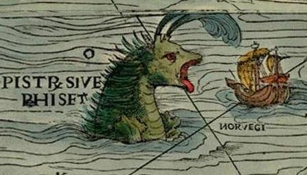 Карта Северной Европы 1540 года
