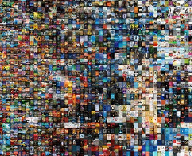 Интерактивная фотография тысяч самых продаваемых книг за последнее десятилетие