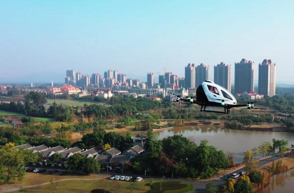 Использование воздушного такси для передвижения между китайскими городами