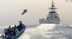 Спецназ Королевской морской пехоты Великобритании испытывает индивидуальный реактивный ранец