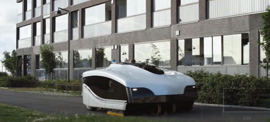 В столице Финляндии испытывают автономного робота-уборщика для очистки улиц