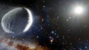 Гигантская комета летит в сторону Солнца